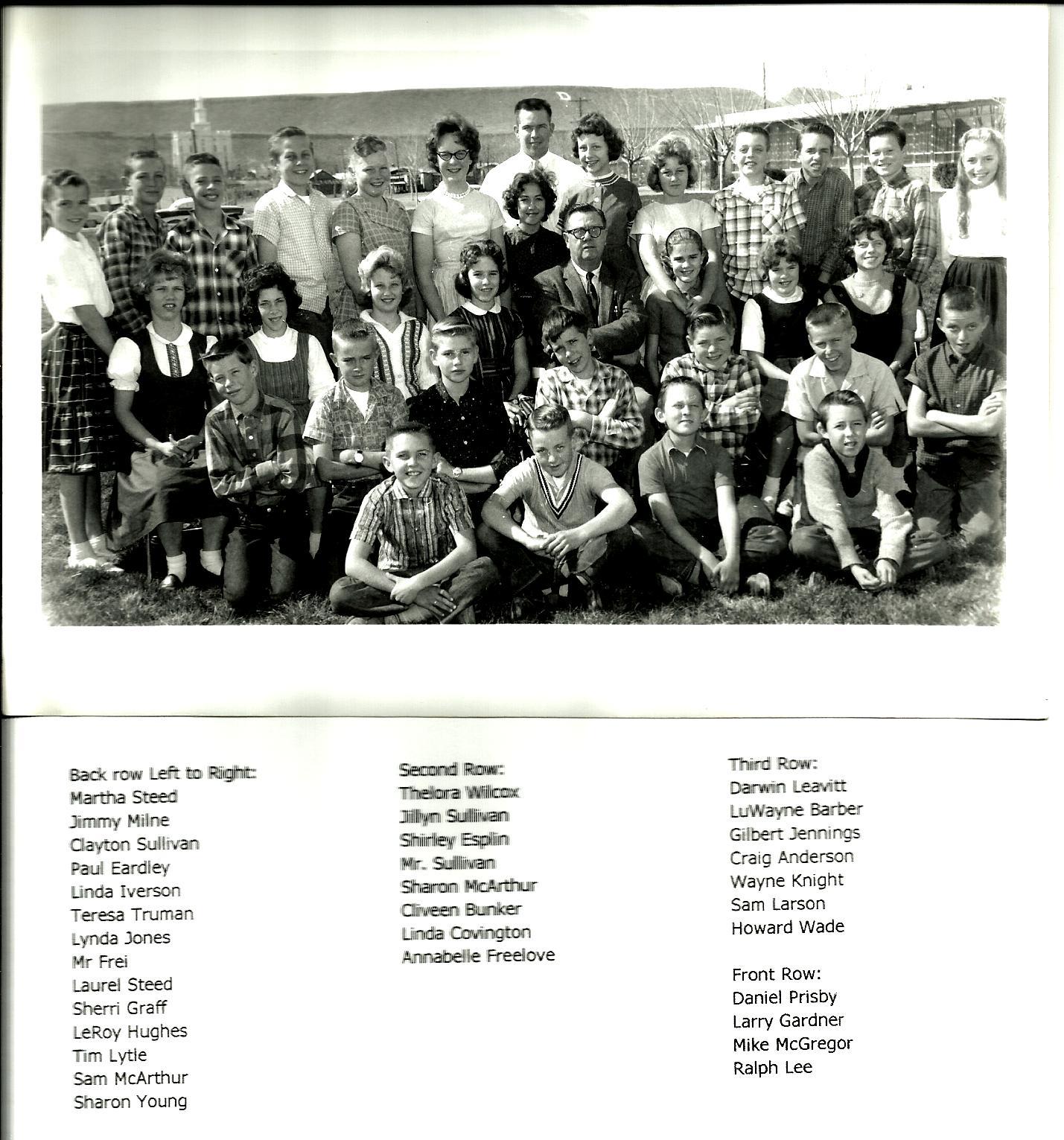 Sixth Grade Class Pic - Mr Sullivan East Elem